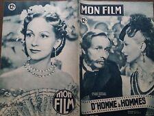 "MON FILM 1949 N 143 "" D' HOMME A HOMMES "" avec J.L. BARRAULT et HELENE PERDRIERE"
