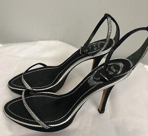 Rene Caovilla Venezia crystalled open toed Sandals sz 36.5