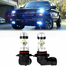 Pair of H10 8000K Ice Blue Xb-D Cree Cob Led Headlight Drl Fog Light Replacement (Fits: Neon)