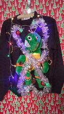 "TEENAGE NINJA TURTLES "" UGLY "" Tacky Christmas sweater X-LARGE MENS L@@K LIGHTS"