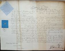 Queen Victoria Signed Autograph Military Royal Commission Prince George & Hardy