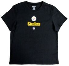 Pittsburgh Steelers Reebok NFL Women's Basic Logo Black T-Shirt