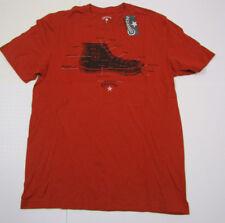 Nwt Mens Converse Chuck Taylor Dark Orange Anatomy Of A Shoe Tshirt Medium