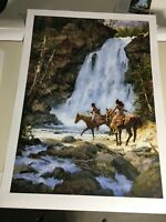 """""""CROSSING BELOW THE FALLS"""" LIMITED EDITION PRINT BY HOWARD TERPNING 740/1000"""