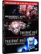 RESIDENT EVIL DVD PACK TRILOGIA COMPLETA NUEVO ( SIN ABRIR ) VENDETTA
