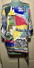 Vintage Three Flaggs California Womens Sz M 70s Style Blouse Made In USA