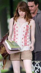 "EMMA STONE Authentic Screen Worn ""Irrational Man"" Blouse W/COA."