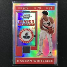 2019-20 Contenders Optic HASSAN WHITESIDE Season Ticket Silver #52