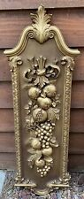 Vintage Syroco Homco Fruit Bounty Large Hollywood Regency Wall Hanging #7304