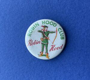 Vintage Robin Hood Club promo Tin Pin  badge 1960s Robin Of Sherwood TV Film