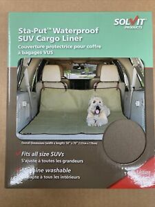 Solvit Waterproof Vehicle SUV Cargo Liner for Dogs Pets Sta-Put  50 x 70 Inches