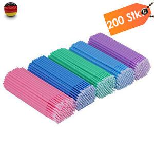 200 Stück Lacktupfer Microbrushstäbchen Microbrush Applikator Microbürstchen