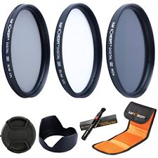 52MM Slim UV CPL ND4 Lens Filter Kit + Cleaning Pen for Nikon Canon K&F Concept