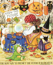 Know The Future Fortuneteller-Handmade Halloween Magnet-w/Mary Engelbreit art