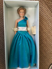 Franklin Mint Princess Diana Doll Aquamarine Silk Gown LE 0310/1000 With Shipper