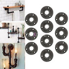 10Pcs 3/4'' Malleable Threaded Floor Flange Iron Pipe Fittings Wall Mount Black