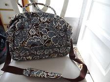 Vera Bradley metropolitan / laptop tote in retired Slate Blooms pattern