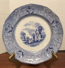 "Antique Staffordshire Blue Transferware 9 1/2"" Plate COLUMBIA W Adams"