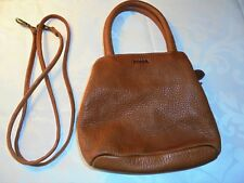 FOSSIL Brown Pebbled Leather Handbag Shoulder Bag Crossbody EUC