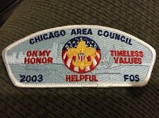 MINT CSP Chicago Area Council 2003 FOS SA-36