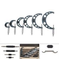 Pro Precision Micrometer 6pcs/set Machinist Measuring Tool w/Box USA STOCK