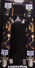 "Suspenders Children & Junior 1""x36"" FULLY Elastic Walking Dead NEW Made in USA"