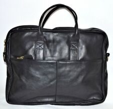 Frye Bag Leather Messenger Laptop Case Business Travel Briefcase Vintage Black