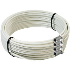 20m White Twin Satellite Shotgun Coaxial Cable Sky+ HD Freesat Extension Lead