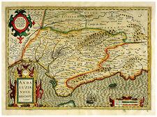 Andalusia Spain Gibraltar Iberian Peninsula map Hondius ca.1633