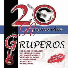 20 Recuerdos Gruperos (CD) Los Rehenes, Mier, Plebeyos, Relampago, Briseyda