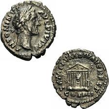 Antoninus Pius Denar Rom 158/9 TEMPLVM DIV AVG REST Tempel Augustus RIC 143 - R