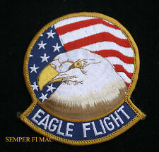"""4"""" F-15 EAGLE FLIGHT PATCH USA FLAG USAF AFB PILOT AIR CREW WING US AIR FORCE"""