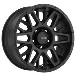 "Vision 388 Shadow 20x9 6x5.5"" +10mm Satin Black Wheel Rim 20"" Inch"