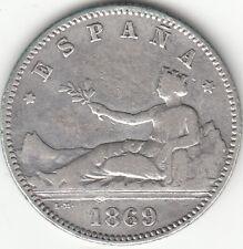 I REPUBLICA: 1 PESETA 1869 * 18-69 SNM / ESPAÑA / PLATA