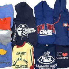 vtg 70s 80s Sweatshirt Hoodie lot X 10 Ny Giants Champion Blue Bar Usa Bundle