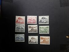ICELAND - 9 Stamps mint hinged definitives