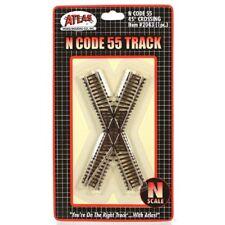 N Scale Atlas 2043 Code 55 45 Dergee Crossing Track