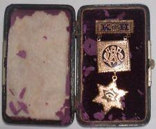 Knights of Honor K of H 1909 Presentation Medal Pin Brookline Lodge-Original Box