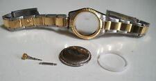 Silver/Gold finish women's bubble glass for date watch case with band & Parts
