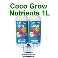 GROWLUSH HYDROPONICS COCO GROW PART A&B 1L NUTRIENT