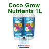GROWLUSH HYDROPONICS COCO GROW PART A&B 1L NUTRIENT