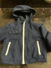 Janie & Jack Toddler Boy Sz 18-24M Navy Blue Hooded Spring Fall Jacket