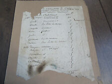 OPERA 1852 LES NYMPHES DOCUMENT MANUSCRIT ORIGINAL THEATRE