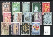 TONGA (25) - ELIZABETH - 1953 - Definitive set 14 values - Mint - SG Cat £70