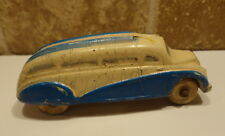 Vintage 1930's SUN RUBBER Co. Streamline Toy Bus Blue & White