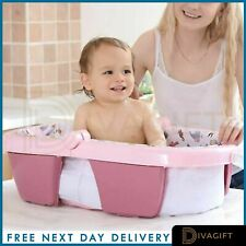 Foldable Baby Bath Tub 36 Months Anti-Slip Stable Support Non Toxic Plastic
