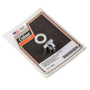 Colony #2566-2 Transmission Drain Plug Chrome OEM 722 Harley-Davidson FLT FXR 81