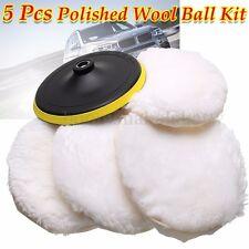 "5Pcs 7""/180mm Polishing Wool Pad Buffer Bonnets Wheel Buffing For Car Polisher"