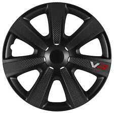 4x Radkappen Radblenden VR BLACK CARBON Schwarz 16 Zoll TUNING - zB. BMW AUDI