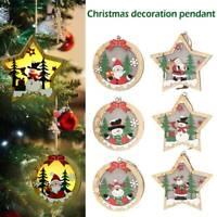 Personalised Christmas Tree Decoration Xmas Bauble Ornament Cartoon Pendant Gift